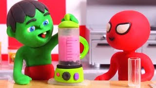 Tommy And His Friends Making Healthy Smoothies 💕 Cartoons For Kids