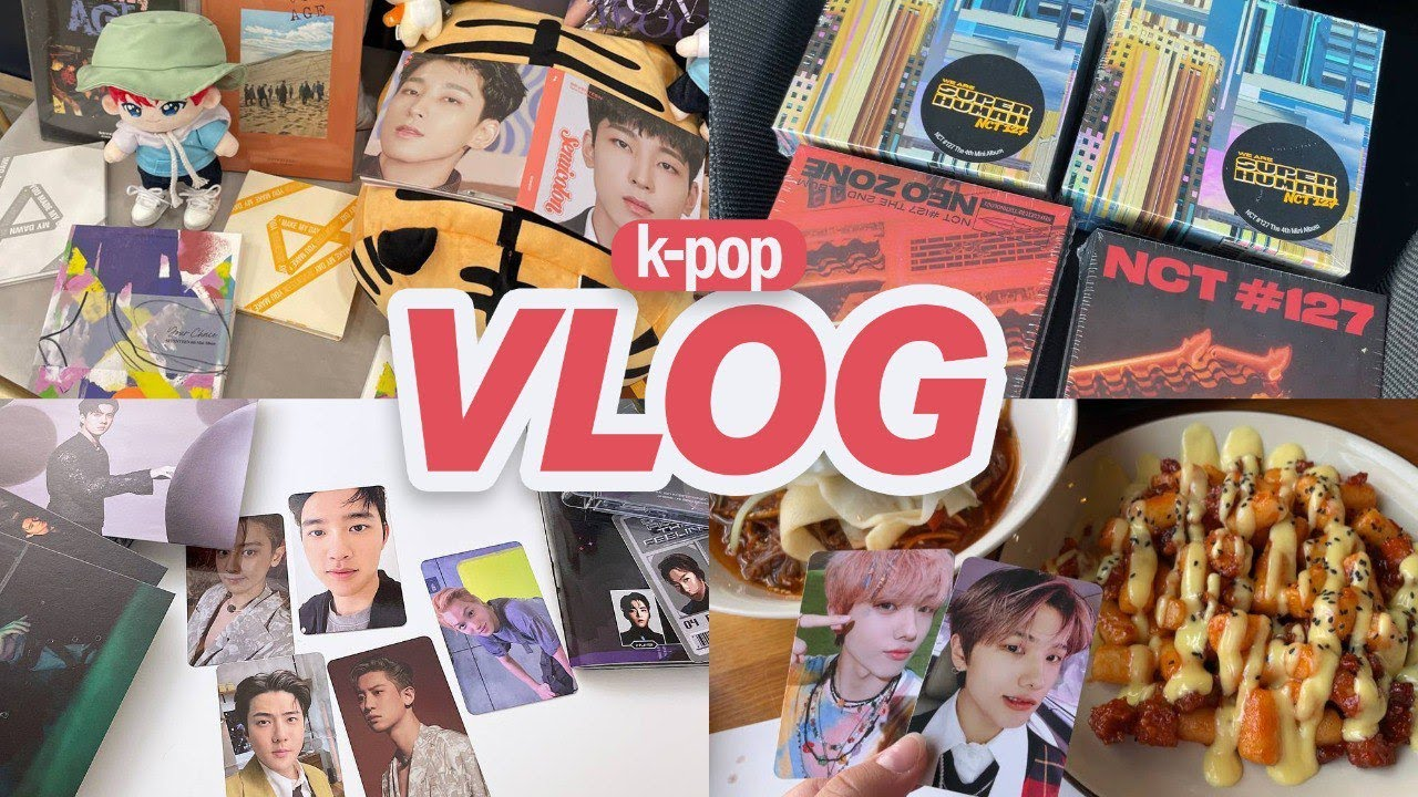 KPOP Vlog ♡ Sorting My Mingyu Collection, Unboxing EXO and NCT Albums, Wonwoo Birthday Cafe Event 🥳