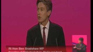 Ben Bradshaw's speech to Labour Party Conference