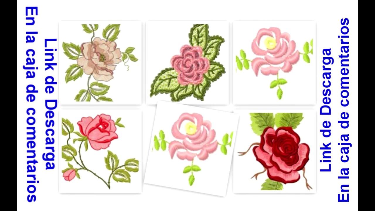 Bordados Descarga Gratis 6 !!!! Rosas - YouTube