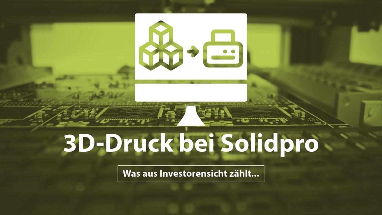 Die Zukunft des 3D-Drucks – Florian König zu Besuch bei Bechtle-Tochter Solidpro.