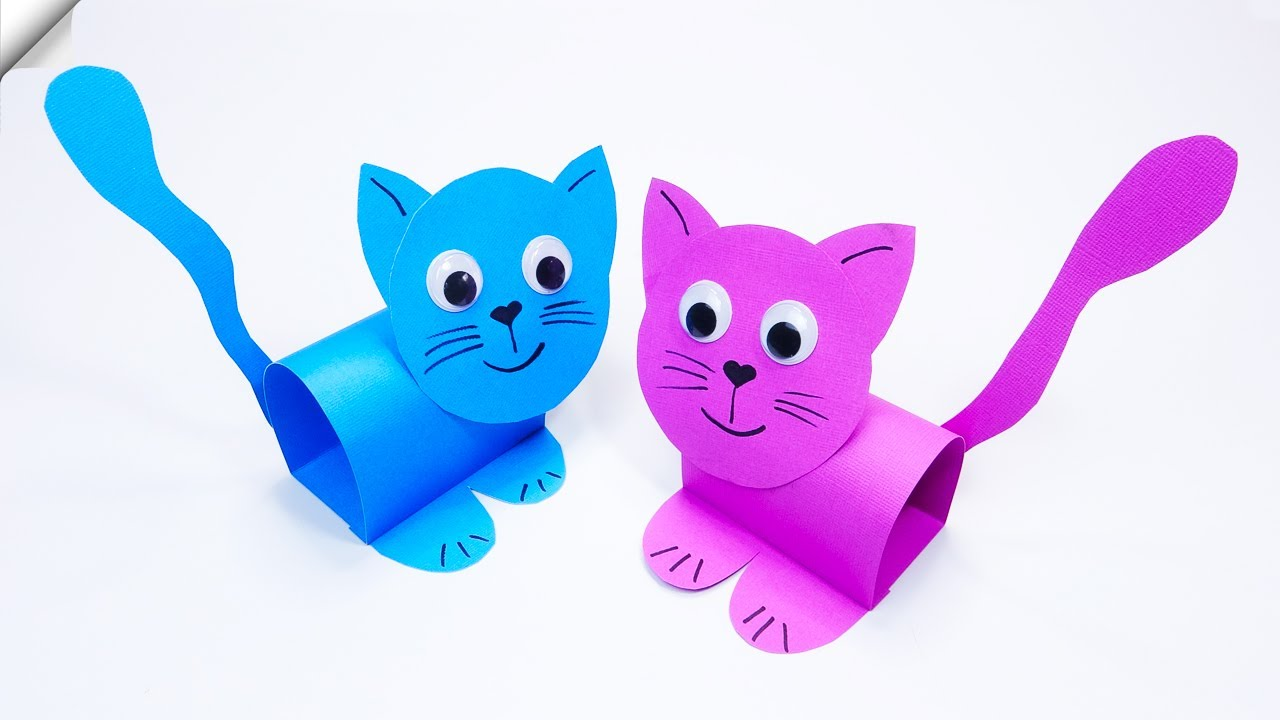 Amazing Paper CAT  Paper crafts for kids