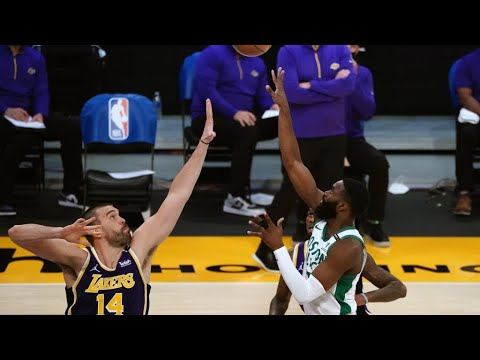 Celtics took it to the undermanned Lakers from the start, and that's a ...