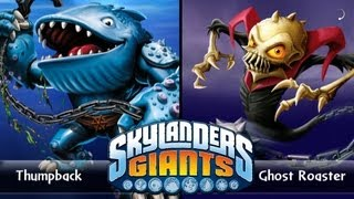 SKYLANDERS GIANTS - THUMPBACK VS. GHOST ROASTER (VERSUS)