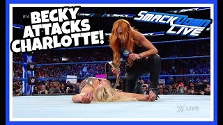 BECKY LYNCH ATTACKS CHARLOTTE FLAIR Reaction | WWE Smackdown Live 8/28/18