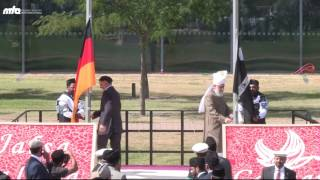 Flaghoisting ceremony with Hazrat Khalifatul Masih V - #JalsaGermany 2016