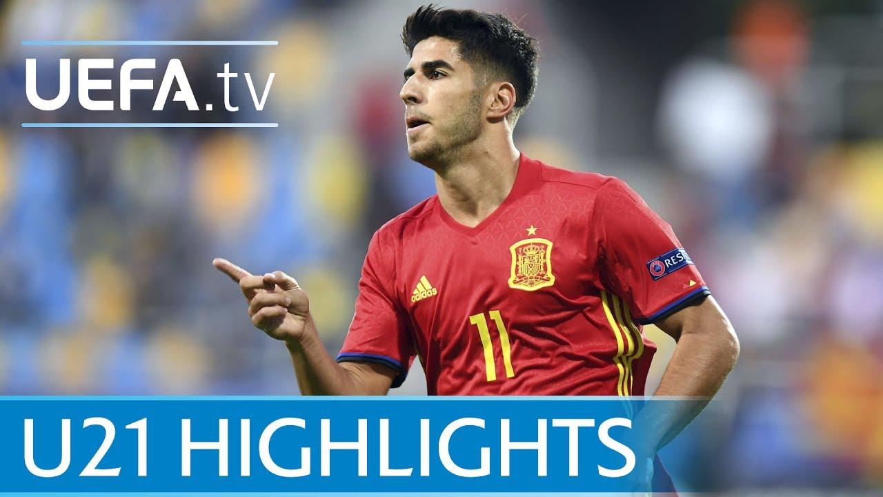 Испания U-21 - Македония U-21 5:0 видео
