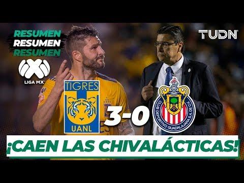 Resumen y Goles | Tigres 3 - 0 Chivas | Liga Mx - J-5 CL-2020 | TUDN