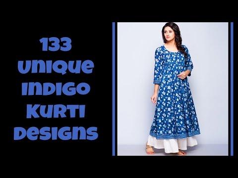 133 Unique Indigo Kurti Designs