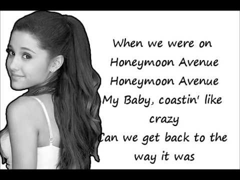 Honeymoon Avenue - Ariana Grande  (Lyric Video)