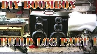 Homemade Portable Boombox Build Log (vlog) - Part 1