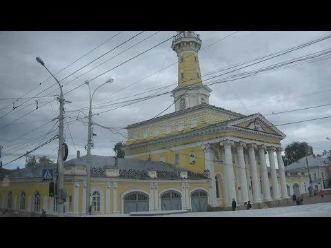. Кострома. Поездка по городу на автобусе (Золотое кольцо России)