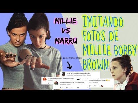 IMITANDO FOTOS DE MILLIE BOBBY BROWN Stranger Things