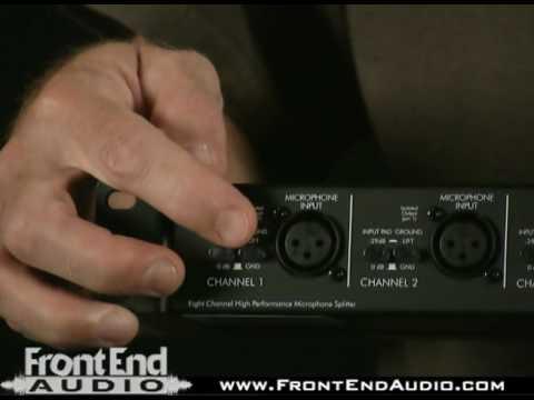ART S8 8-Channel Balanced 2-Way Microphone Splitter @ FrontEndAudio com
