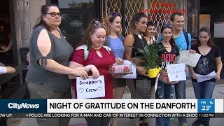 Night of gratitude on the Danforth