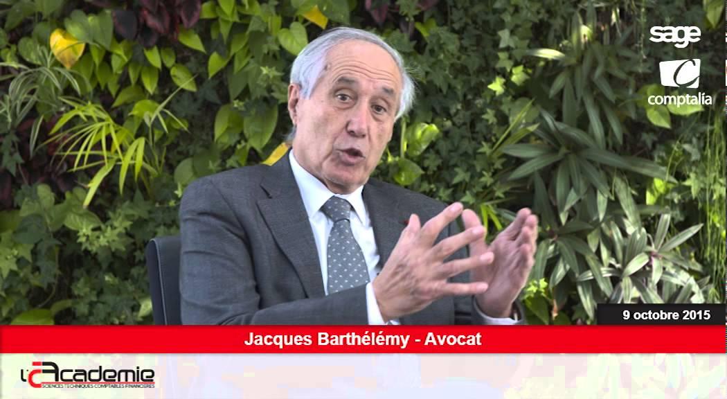 Les Entretiens de l'Académie : Jacques Barthélémy