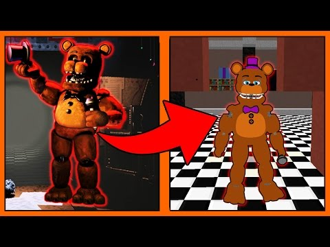 COMO SE TRANSFORMAR NO FREDDY'S DO FIVE NIGHT AT FREDY'S  MINECRAFT