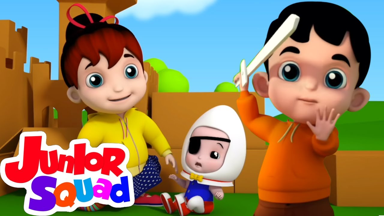 Humpty Dumpty duduk di dinding | Puisi untuk anak | Animasi | Junior Squad Indonesia | Bayi sajak