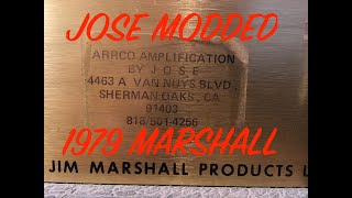 My Real Jose Modded 1979 Marshall 100 watt head- An in depth Look at the Build and Circuit