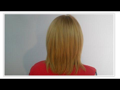 ผมซอยสไลด์ปลาย ตัว V - Hair cutting tutorial