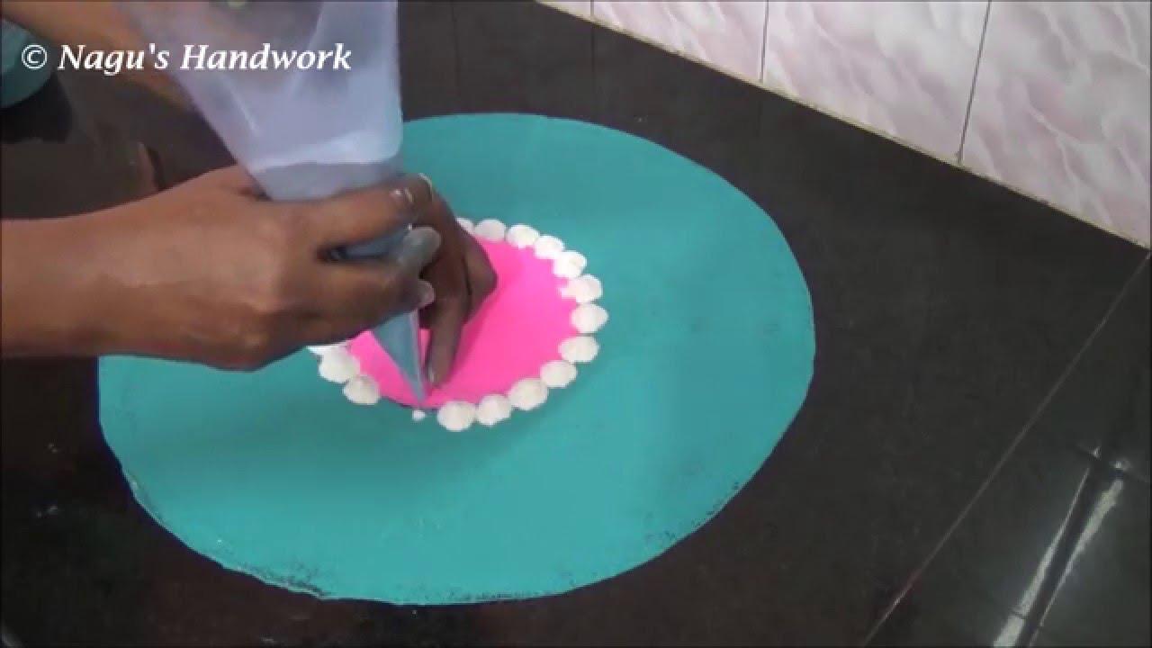 Easy Rangoli Designs-Rangoli Design with colors By Nagu\'s Handwork ...
