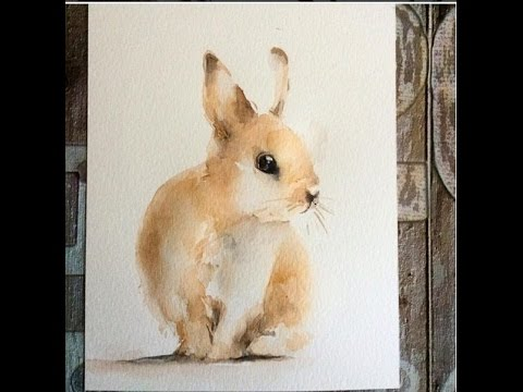 How To Draw A Rabbit By Watercolor YouTube