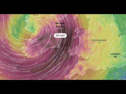 hurricane Ophelia track-Warning!IRELAND,GALWAY,GLASGOW-HURRICANE Ophelia-Weather Channel Live News