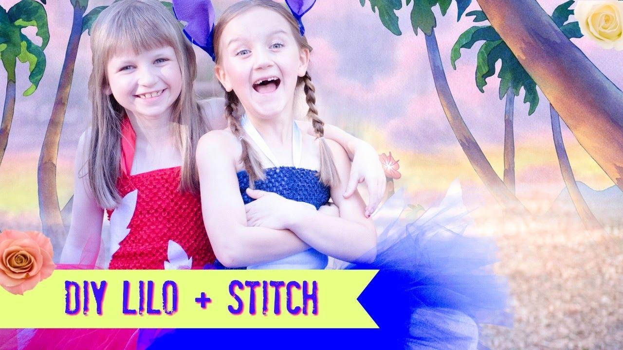 Diy Lilo And Stitch Costume Tutu No Sew Dress Youtube