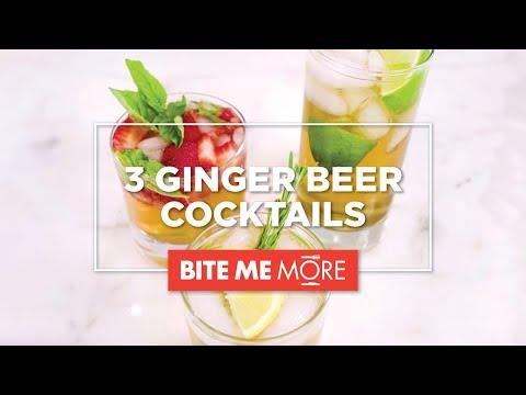 EASY DRINK RECIPE - 3 Ginger Beer Cocktails