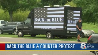 Back the Blue protest