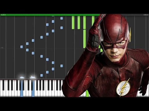 【FULL】[CW's The Flash OST] Main Theme - Blake Neely (Synthesia Piano Tutorial) [w/ MIDI + Sheets DL]