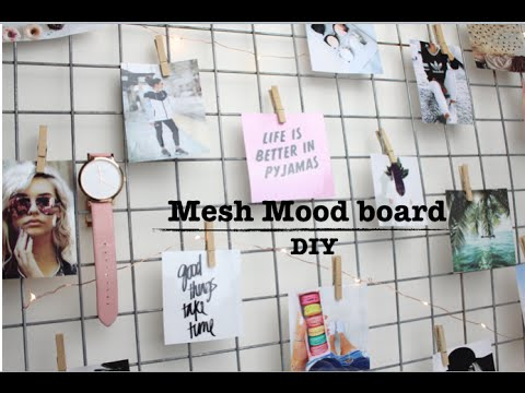 DIY- Mesh Mood Board