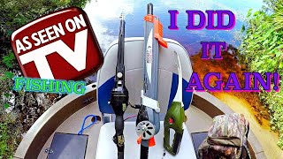 As Seen On TV Rods Fishing Challenge!! Pocket Fisherman, Rocket Fishing Rod & Instant Fisherman!!