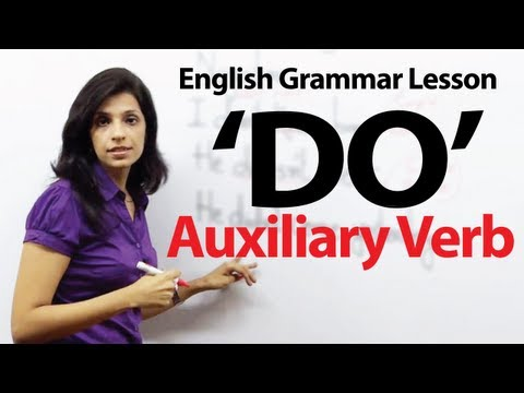 English Grammar Lessons - Auxiliary Verb -