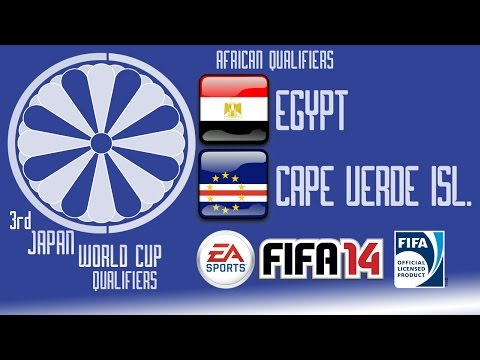 Egypt vs. Cape Verde Islands - Africa Round 1 - End of Group H - FIFA14 - 3rd Japan WCQ - 60fps