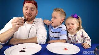 Gummy Food vs Real Food Challenge 2!! Kids Eat Octopus & Giant Gummy Candy!!