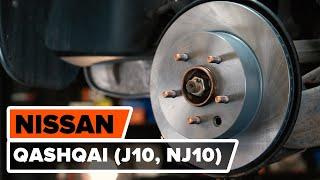 Cum se înlocuiesc discuri frână din spate la NISSAN QASHQAI (J10, NJ10) [TUTORIAL AUTODOC]