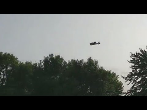 Aerial spraying in Cicero