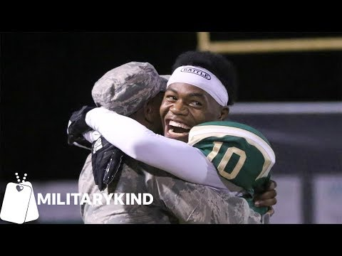 Maverick - Deployed Airman Surprises Little Brother at Football Game