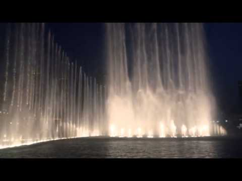 Dubai Waterfront fountain  Show