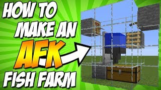 Minecraft Tutorial - How To Make An AFK Fishing Pond - Minecraft 1.13