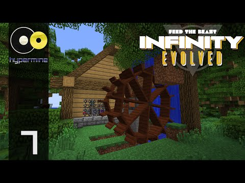 Minecraft Hypermine FTB: Infinity Evolved  | Immersive Engineering Water Wheel | E07