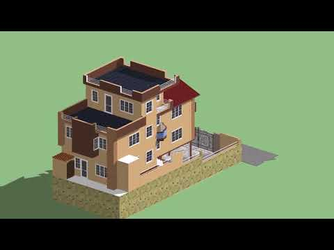 3 D Design of Residential Building at Kathmandu, NEPAL