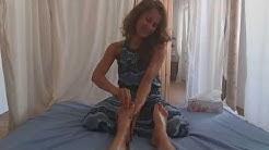 Fußmassage Tutorial mit erotischen Elementen  (Oxytocin shots)