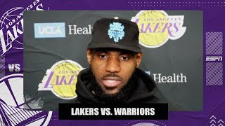 LeBron postgame interview following Lakers' loss to the Warriors | NBA on ESPN