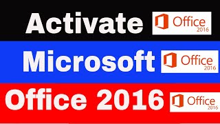 How to Activate Microsoft Office 2016 using kmspico (Professional Plus)
