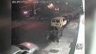 Surveillance Video: Four teens jump senior citizen - New York Post