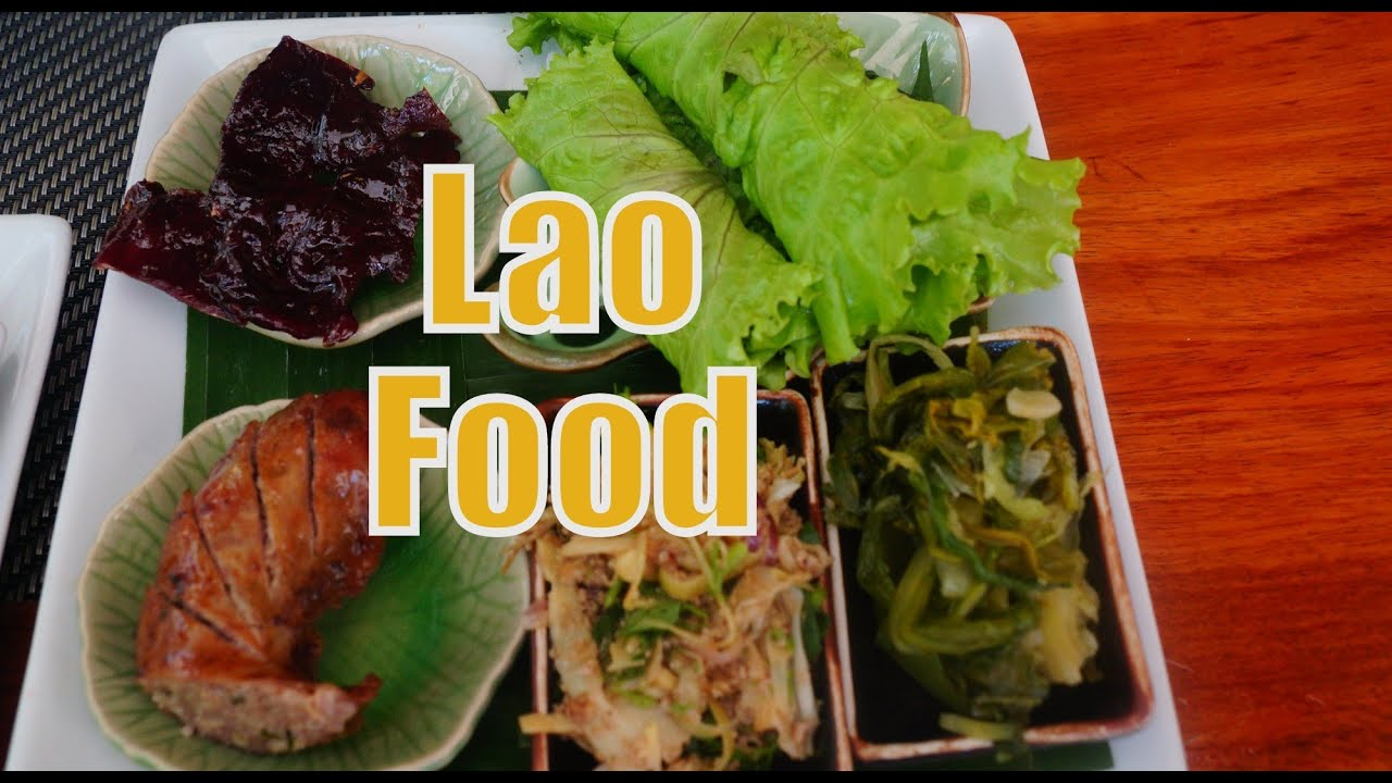 Eating Lao Food And Lao Cuisine For Lunch At Tamarind Restaurant In - Cuisine laotienne