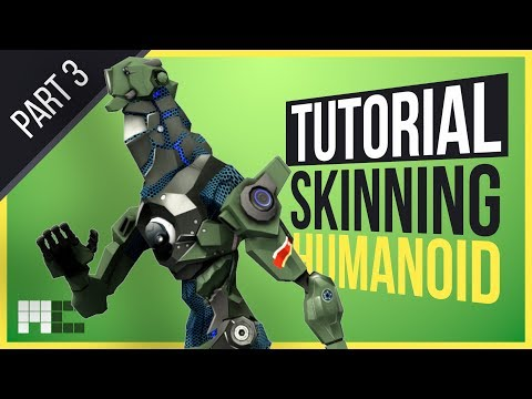 Humanoid Mech Tutorial - Part 3 Skinning Head and Arms (3ds Max CAT)