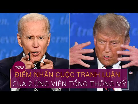 Điểm nhấn cuộc tranh luận đầu tiên của 2 ứng viên Tổng thống Mỹ | VTC Now